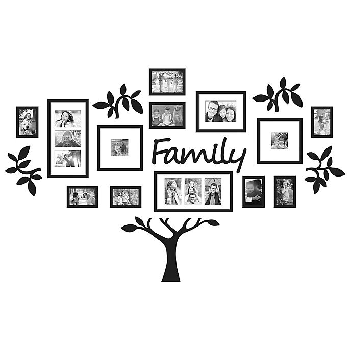 Wallverbs 19 Piece Quot Family Quot Tree Set In Black Bed Bath