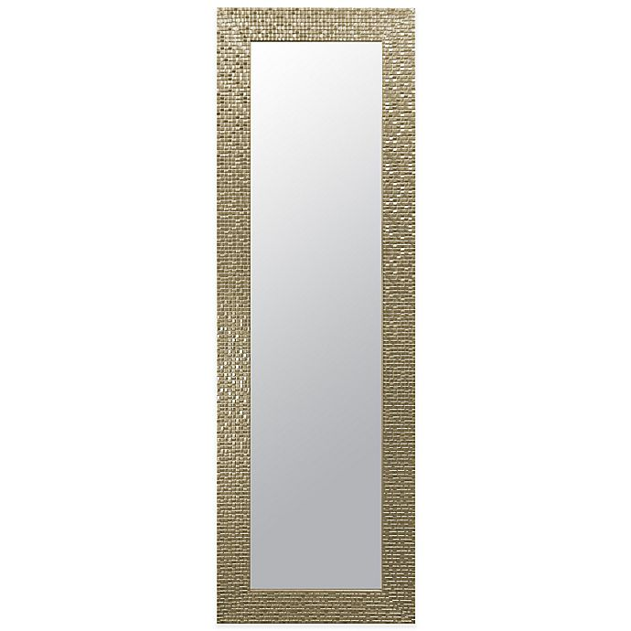 Alternate image 1 for Door Solutions™ Rectangular 17.5-Inch x 53.5-Inch Over-the-Door Mirror in Champagne