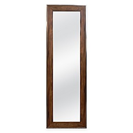 "Door Solutions™ Over-the-Door 17.5"" x 53.5""  Mirror in Walnut Woodgrain"