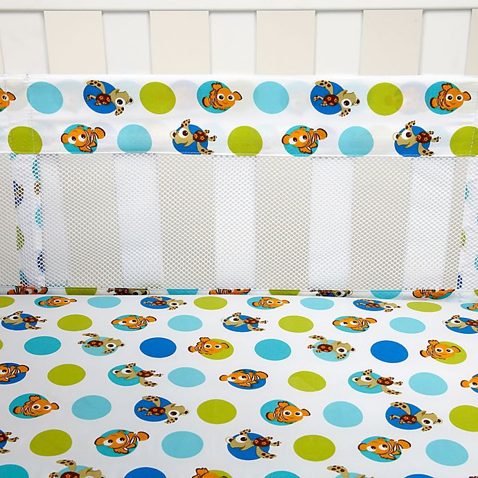 Alternate image 1 for Disney® Nemo Secure-Me Mesh Crib Liner