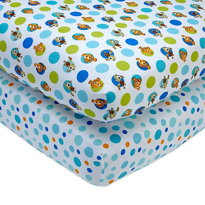 Alternate image 1 for Disney® Nemo Fitted Crib Sheets (Set of 2)