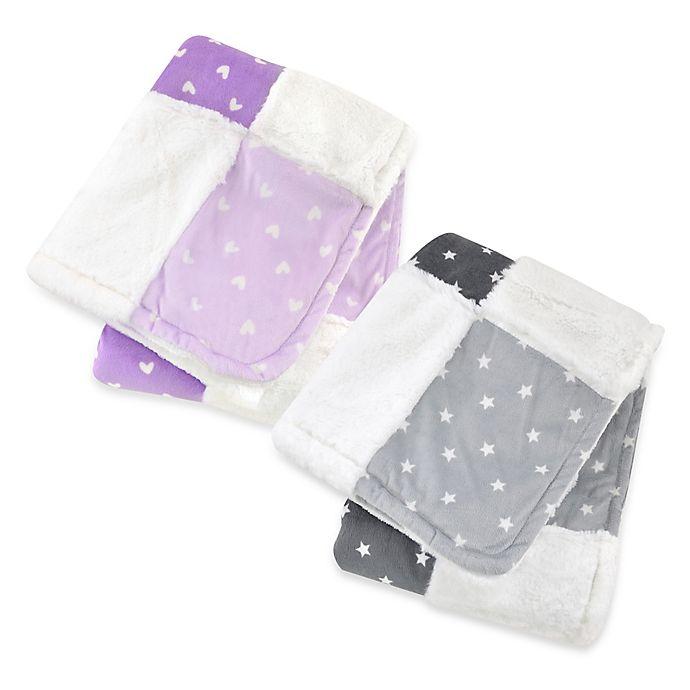 Alternate image 1 for Just Born® Plush Patchwork Blanket