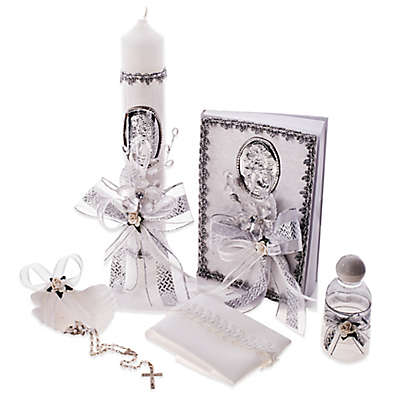 6-Piece Our Lady of Guadalupe Spanish Baptism/Christening Gift Set