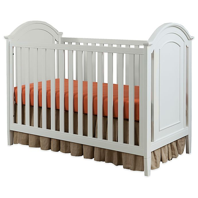 Alternate image 1 for Imagio Baby by Westwood Designs Harper Cottage Crib with Detailed End Panels in White