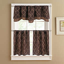 Oh Deer Window Curtain Panel and Valance in Brown