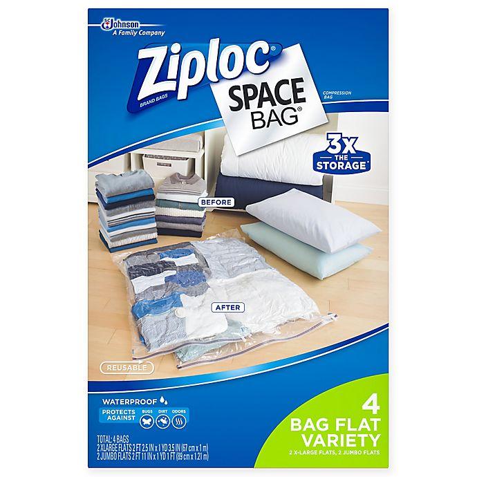 Alternate image 1 for Ziploc® Space Bag® 4-Piece Flat Combo Set