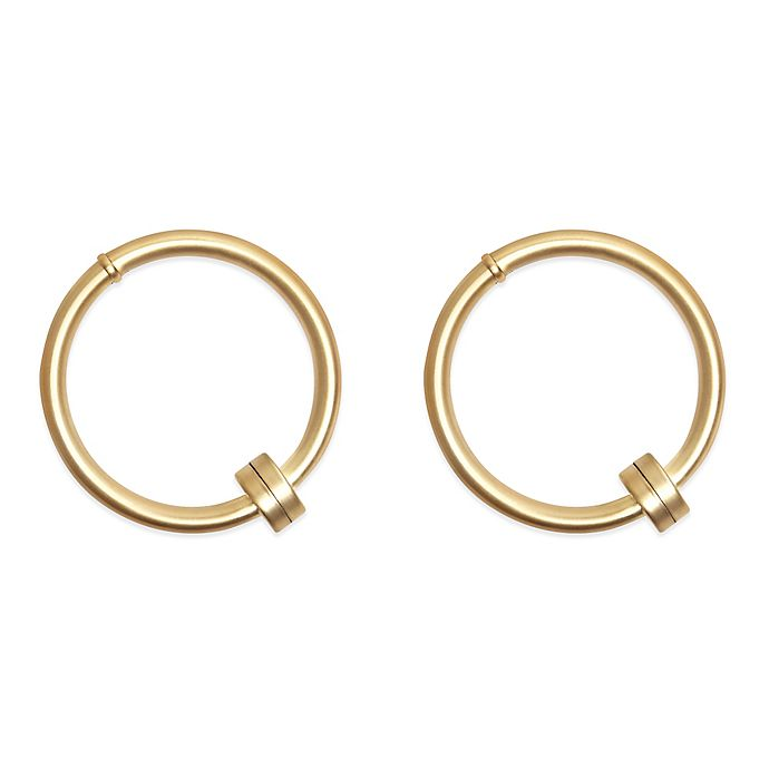 Umbra 174 Cappa Halo Hold Backs In Brushed Brass Set Of 2