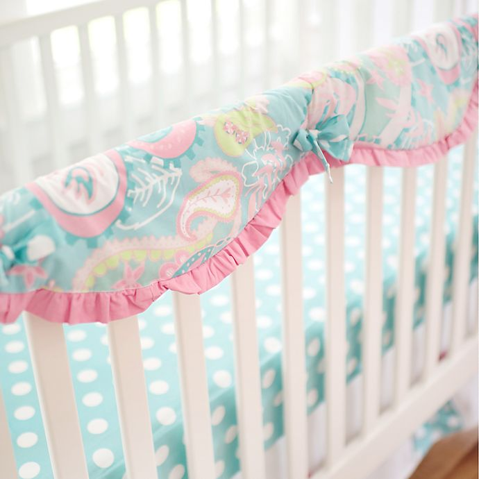 Alternate image 1 for My Baby Sam Pixie Baby Crib Rail Cover in Aqua