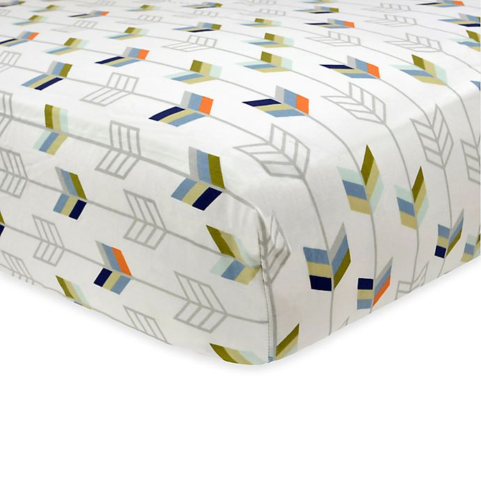 Just Born 174 Adventure Arrows Fitted Crib Sheet Buybuy Baby