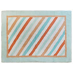 My Baby Sam Penny Lane Rug in Aqua/Orange