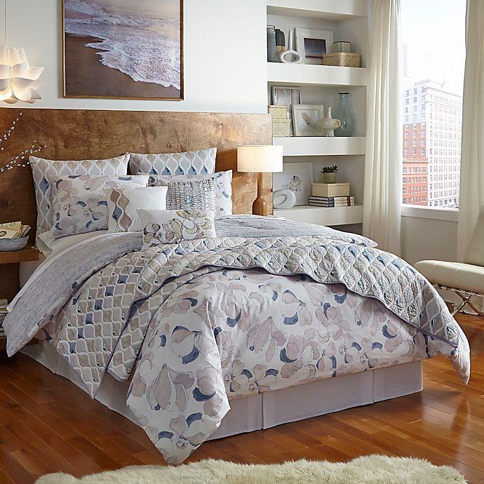 Alternate image 1 for Shell Rummel Magnolia Reversible Comforter Set in Indigo