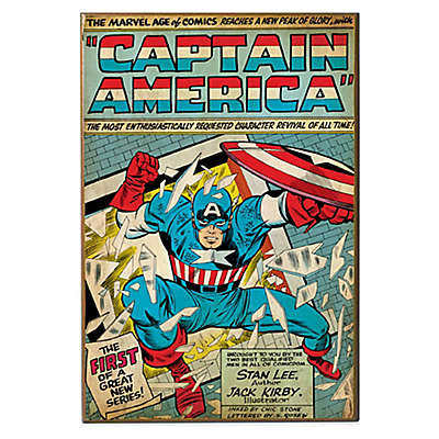 Captain America The Firstmarvel Comic Book Cover Wall Decor Plaque