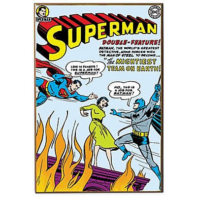Superman DC Comic Book Cover Wall Décor Plaque