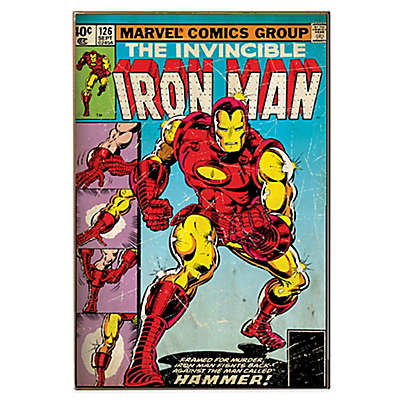 "Iron Man ""Hammer"" Marvel Comic Book Cover Wall Décor Plaque"