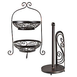 Mesa Brand & Scroll Collection in Antique Black