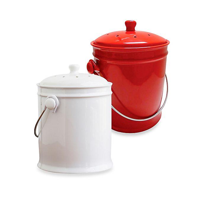Alternate image 1 for Natural Home® 1-Gallon Ceramic Compost Bin