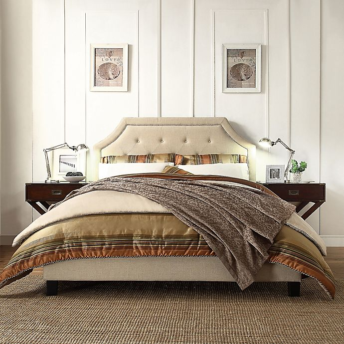 Alternate image 1 for iNSPIRE Q®  Ainslie Button Tufted Full Bed in Oatmeal