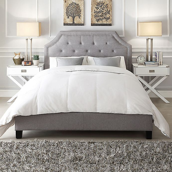 Alternate image 1 for iNSPIRE Q® Ainslie Button Tufted Full Bed in Grey