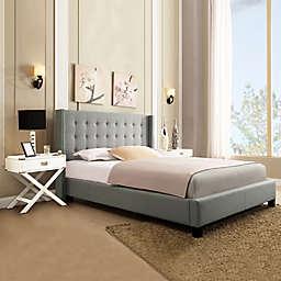 iNSPIRE Q® Kensington Wingback Queen Bed in Grey