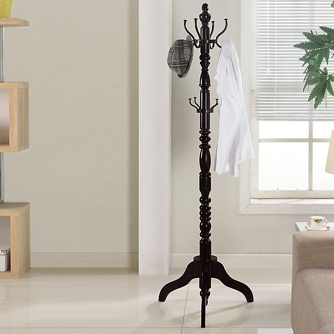 Rivington Standing Coat Rack In Espresso Bed Bath And