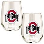 Ohio State University Stemless Wine Glass (Set of 2)