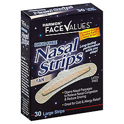Harmon® Face Values™ Nasal Strips 30-Count Large Strips in Tan