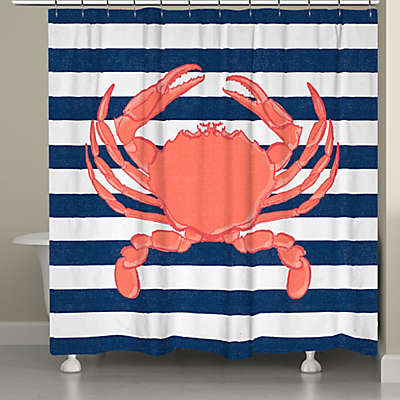 Laural Home® Crab Stripe Shower Curtain