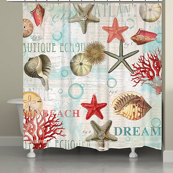 Alternate image 1 for Laural Home® Dream Beach Shells Shower Curtain