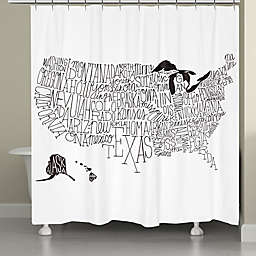 Laural Home® United States States Map Shower Curtain