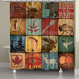 Laural Home® Lodge Patch Shower Curtain