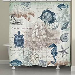 Laural Home® Seaside Postcard Shower Curtain