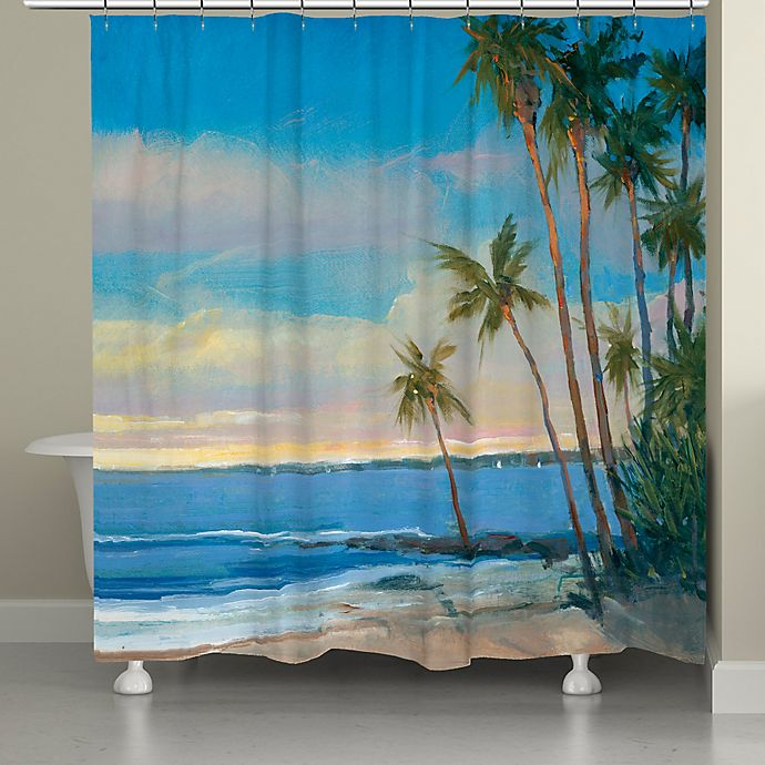 Alternate image 1 for Laural Home® Tropical Breeze Shower Curtain