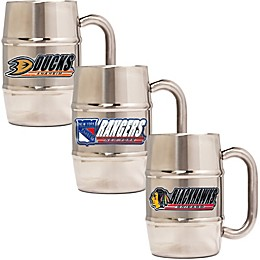 NHL 16 oz. Stainless Steel Barrel Mug