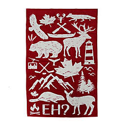 Canadian Colour It Beach Towel in White/Red