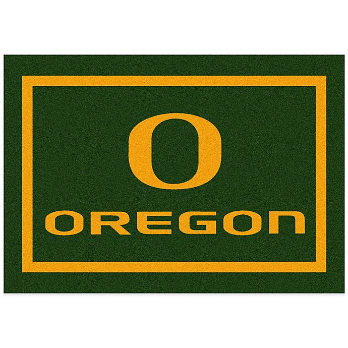 Alternate image 1 for University of Oregon 2-Foot 8-Inch x 3-Foot 10-Inch Extra Small Spirit Rug