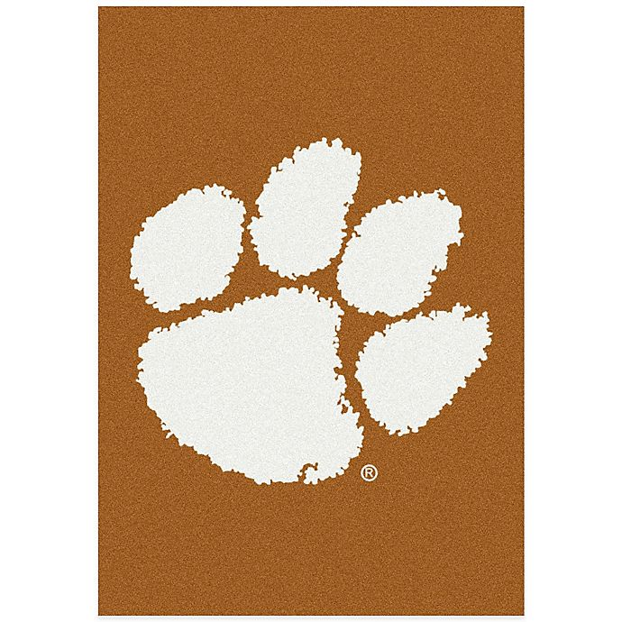 Alternate image 1 for Clemson University 3-Foot 10-Inch x 5-Foot 4-Inch Small Spirit Rug