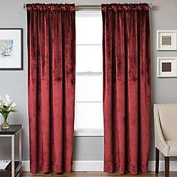 Velvet Rod Pocket/Back Tab Lined Window Curtain Panel