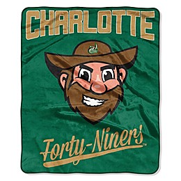 NCAA University of North Carolina at Charlotte Super-Plush Raschel Throw Blanket
