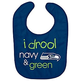 "NFL Seattle Seahawks ""I Drool Navy & Green"" Bib"