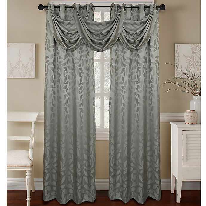Alternate image 1 for Constance Textured Jacquard Window Curtain Panel and Valance