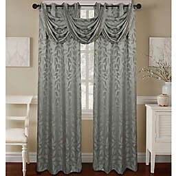 Constance Textured Jacquard Window Curtain Panel and Valance