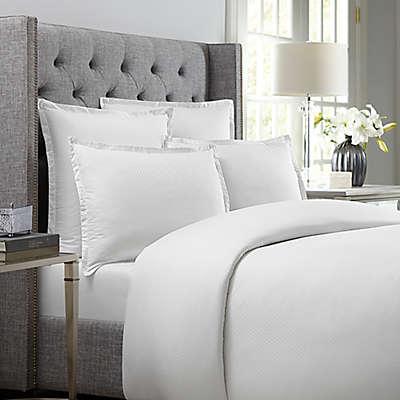 Wamsutta 620-Thread-Count Diamond Pillow Sham in White