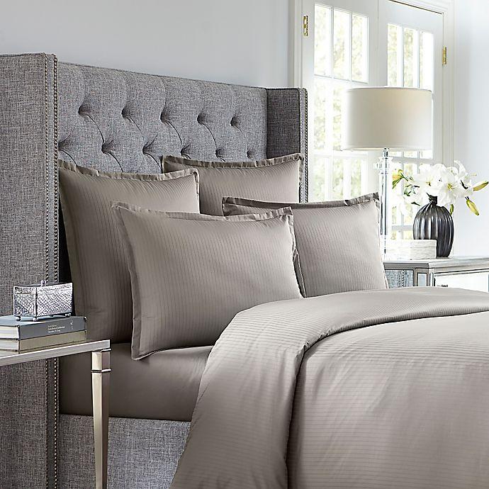 Alternate image 1 for Wamsutta® 620-Thread-Count Stripe Duvet Cover