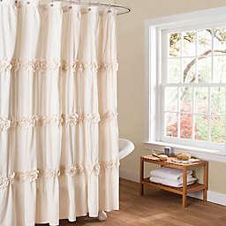 Darla Shower Curtain in Ivory