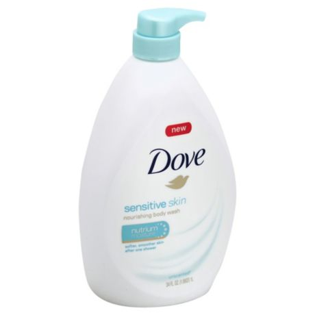 Dove 34 Oz Sensitive Skin Body Wash With Nutrium Moisture In Unscented Bed Bath Beyond