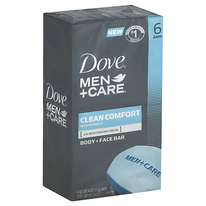 Alternate image 1 for Dove 6-Count Men+Care Body and Face Bar in Clean Comfort