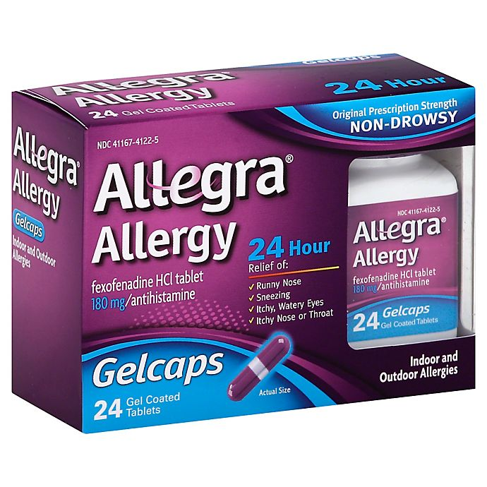 Alternate image 1 for Allegra® Allergy 24-Count 24 Hour Gelcaps