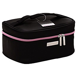 STYLEWURKS™ Bold Basic Train Case in Black/Pink