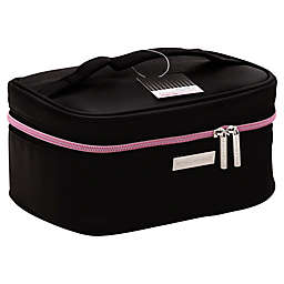 STYLEWURKS™ Bold Basic Train Case in Black/Pink