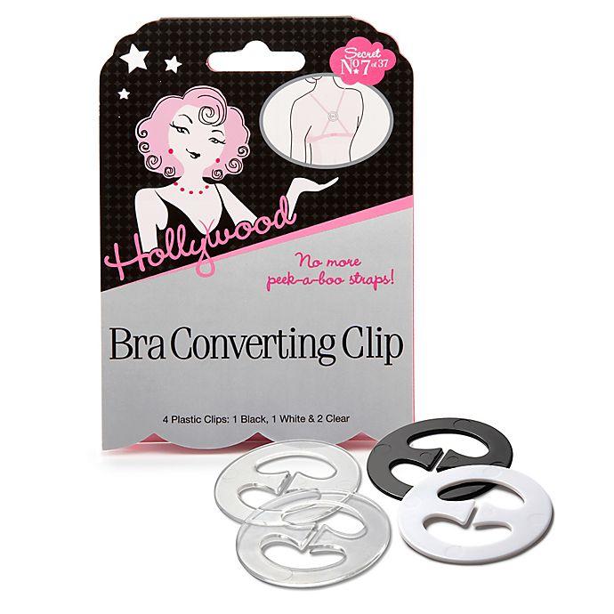 Alternate image 1 for Hollywood Fashion Secrets® Bra Converting Clip (Set of 4)